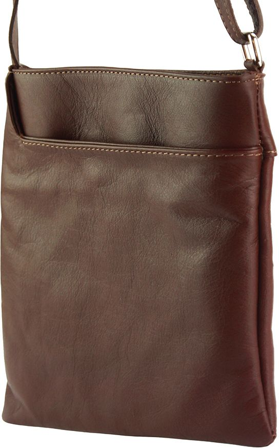 fd3e954852 Bagz Δερματινο Τσαντακι Ωμου Gioia Firenze Leather 418 Καφε