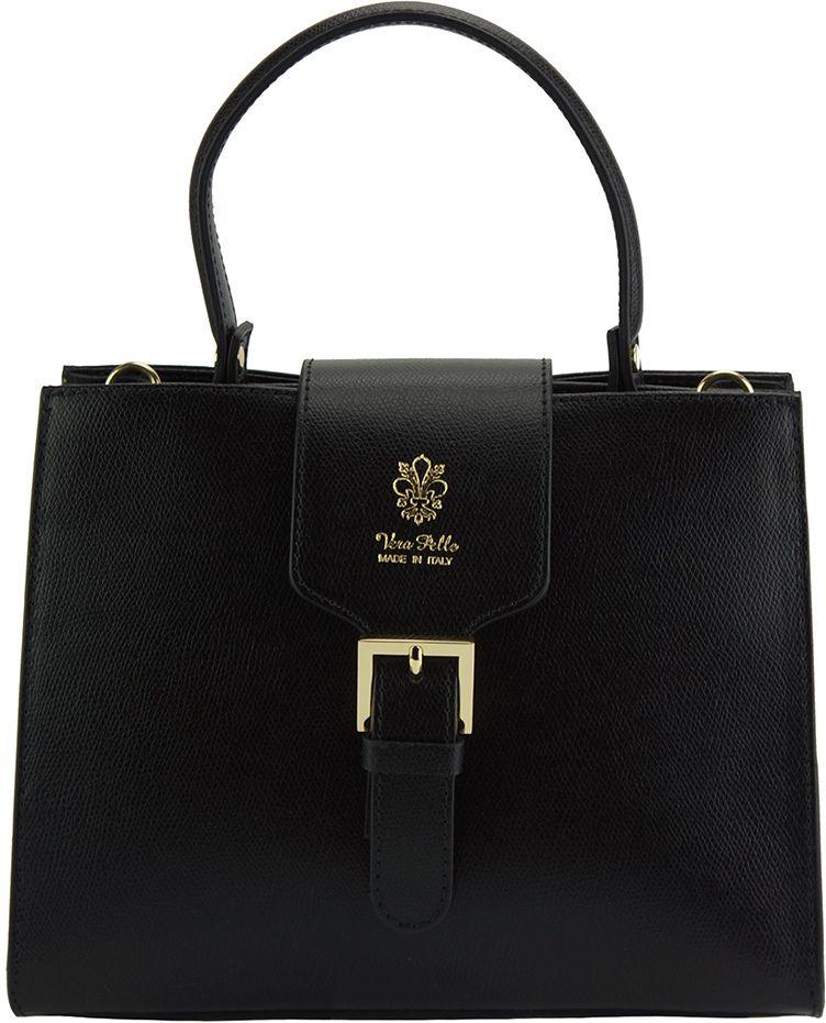 Δερμάτινη Τσάντα Χειρός Vittoria Firenze Leather 305 Μαύρο γυναίκα   τσάντες ώμου   χειρός