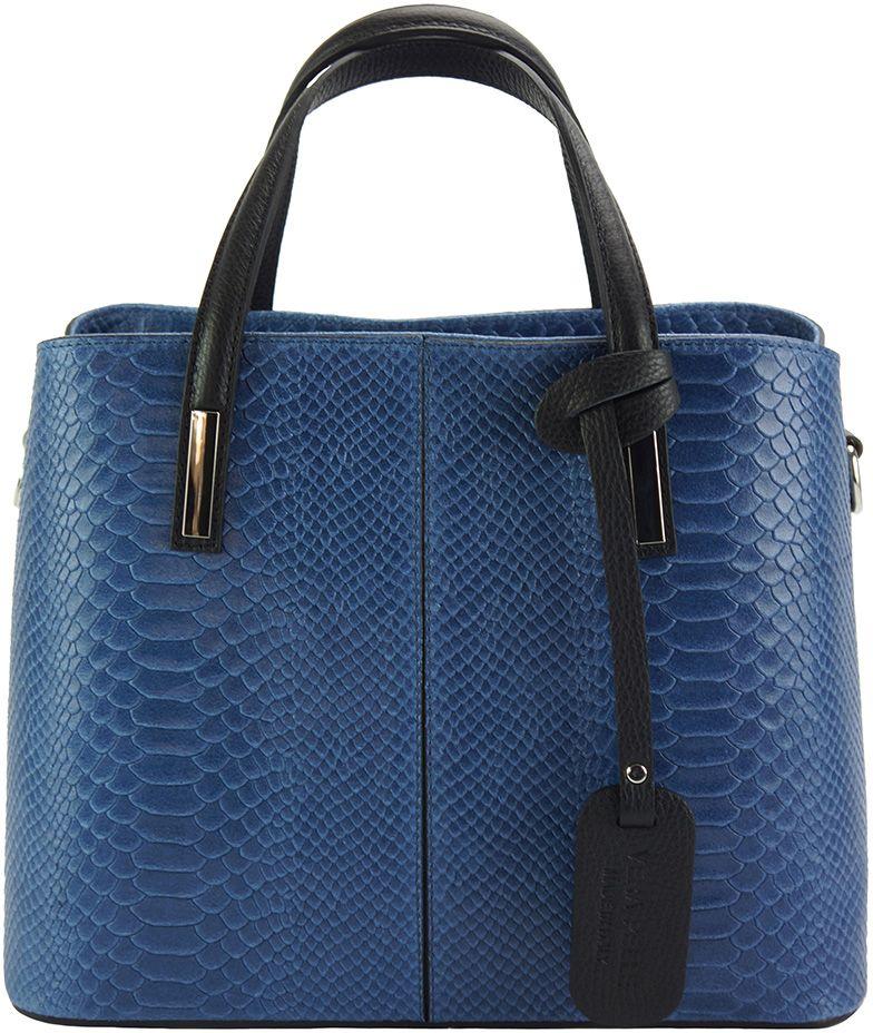 Δερμάτινη Τσάντα Χειρός Vanessa Firenze Leather 7005 Σκουρο Μπλε