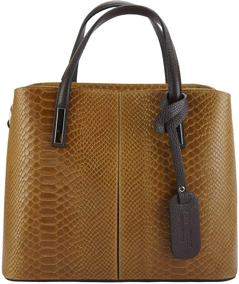 4dd5f0fca7 Δερμάτινη Τσάντα Χειρός Vanessa Firenze Leather 7005 Μπεζ