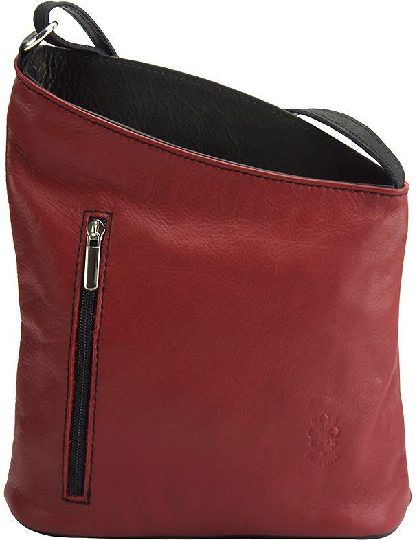Δερματινη Τσαντα Ωμου Miriam Firenze Leather 407 Κόκκινο/Μαύρο γυναίκα   τσάντες ώμου   χειρός