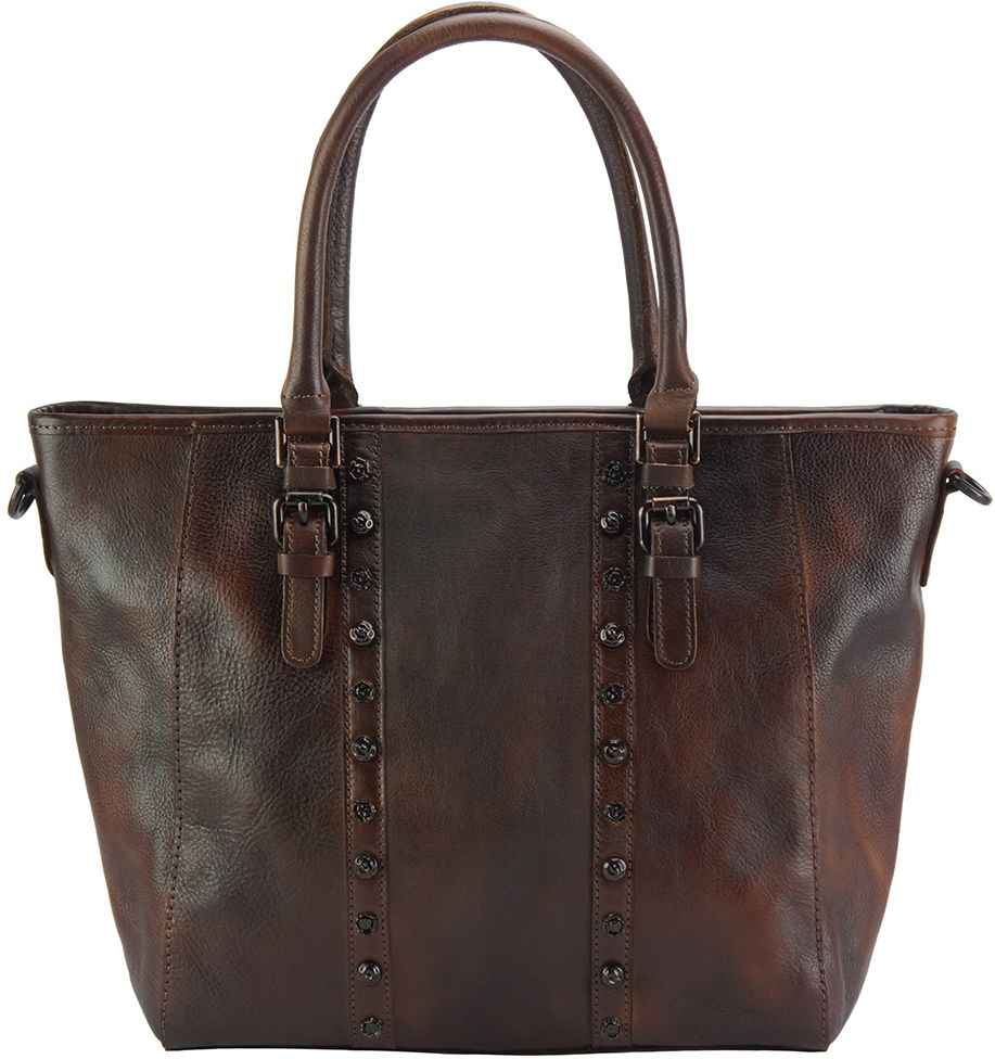 Τσαντα Ωμου Δερματινη Prudenzia Firenze Leather 68169 Σκουρο Καφε 52d376aad2d