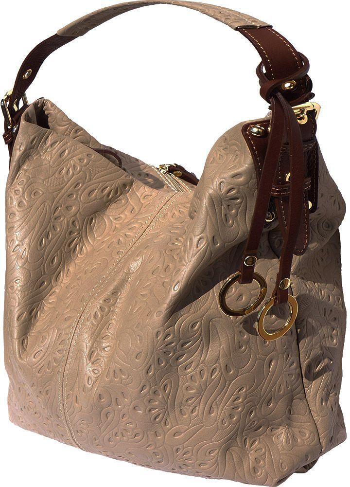 ... Δερματινη Τσαντα Ωμου Debora Firenze Leather 8001s Σκουρο Μπεζ Καφε ... 67340e9961a