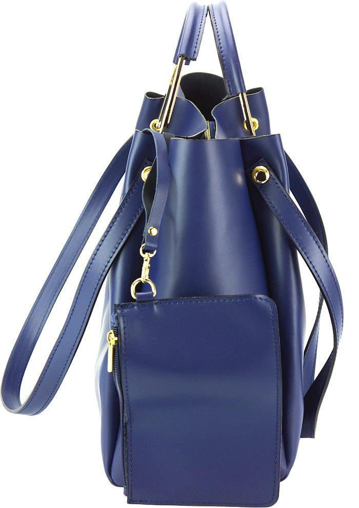 ... Δερμάτινη Τσάντα Ωμου Eleonora Firenze Leather 8051 Σκουρο Μπλε ... 4966ef8be41
