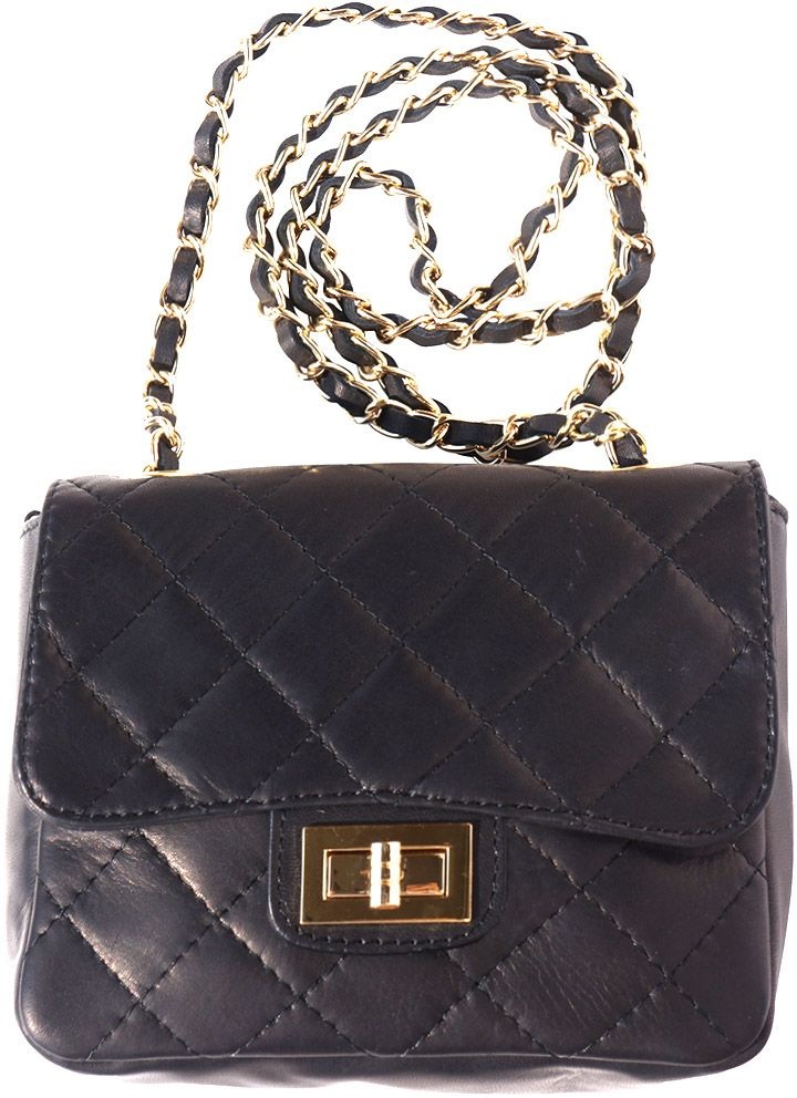 Τσαντακι Ωμου Δερματινο Be Exclusive Firenze Leather 9604 Μαύρο γυναίκα   φάκελοι clutch bags