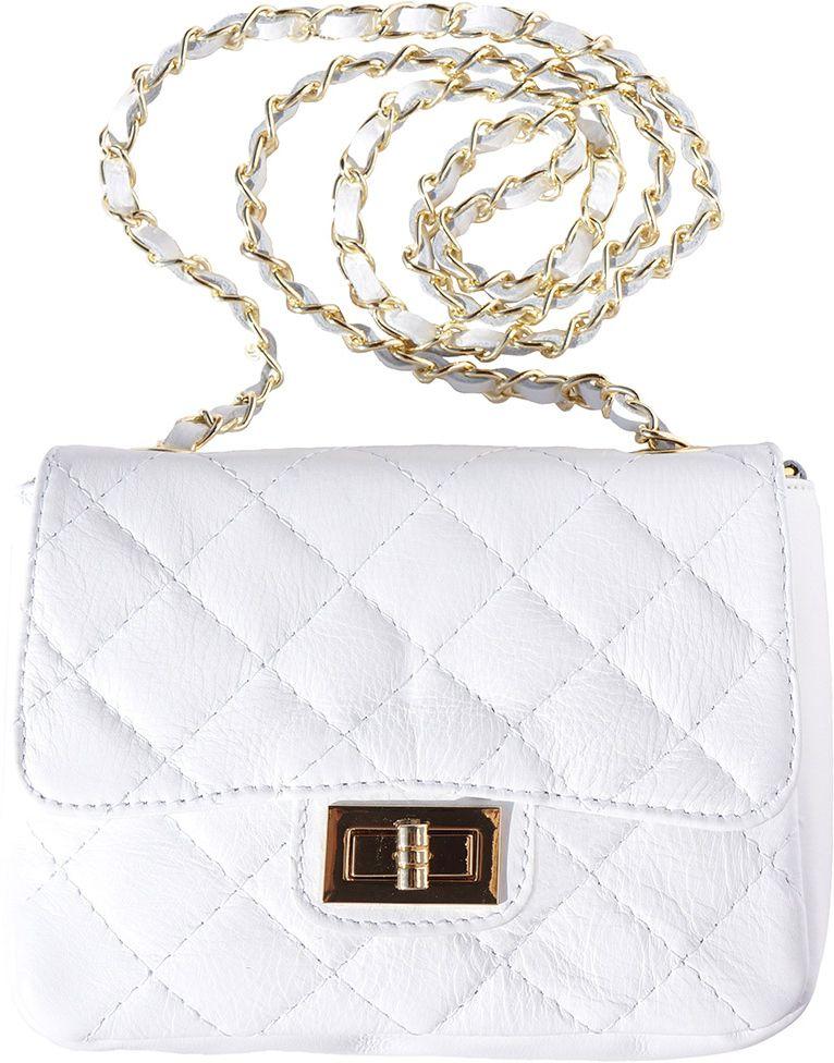 Τσαντακι Ωμου Δερματινο Be Exclusive Firenze Leather 9604 Λευκο γυναίκα   φάκελοι clutch bags