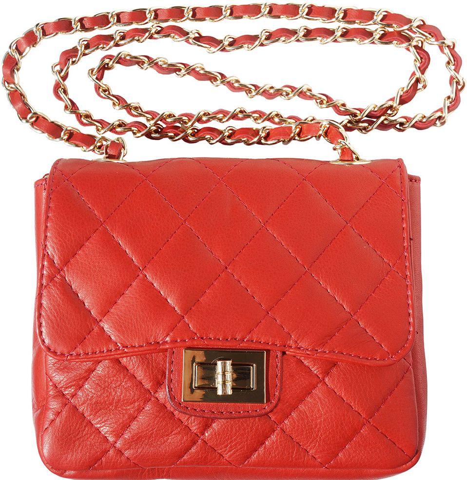 Τσαντακι Ωμου Δερματινο Be Exclusive Firenze Leather 9604 Κόκκινο γυναίκα   φάκελοι clutch bags