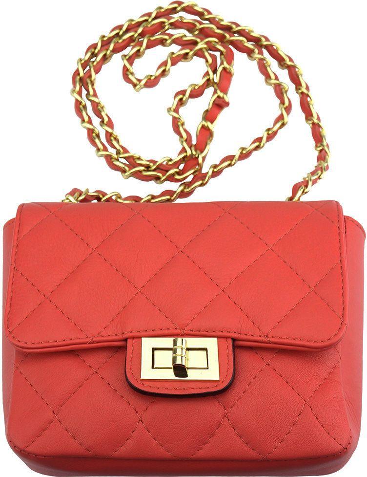 Τσαντακι Ωμου Δερματινο Be Exclusive Firenze Leather 9604 Ροζ γυναίκα   φάκελοι clutch bags