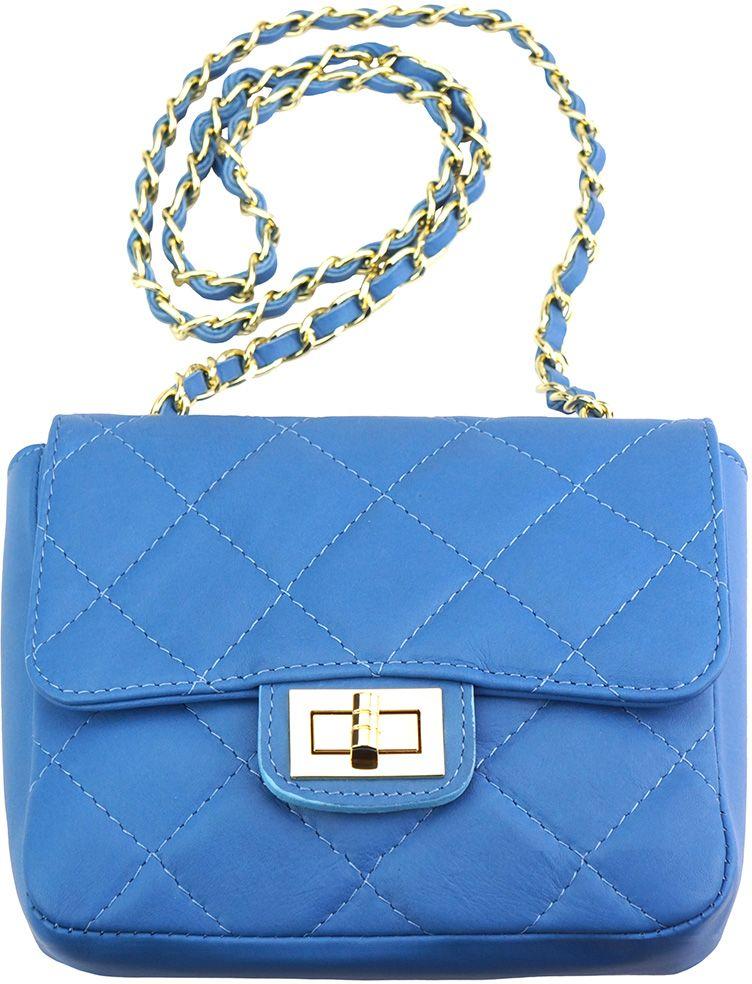 Τσαντακι Ωμου Δερματινο Be Exclusive Firenze Leather 9604 Γαλαζιο γυναίκα   φάκελοι clutch bags