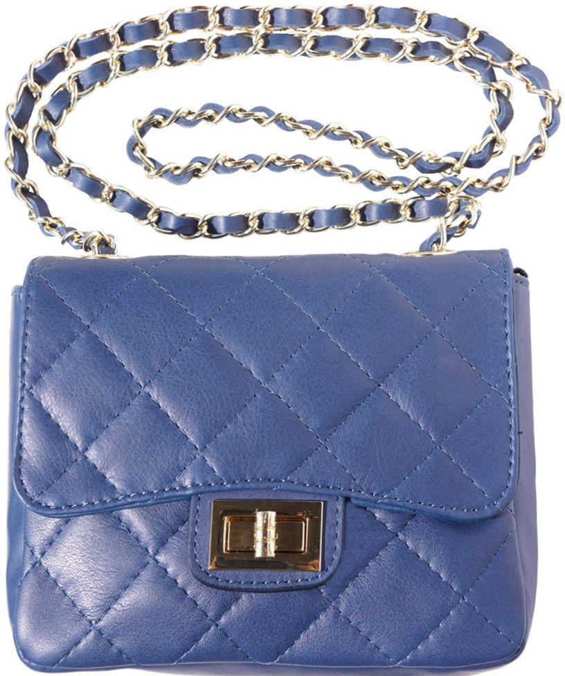 Τσαντακι Ωμου Δερματινο Be Exclusive Firenze Leather 9604 Σκουρο Μπλε γυναίκα   φάκελοι clutch bags