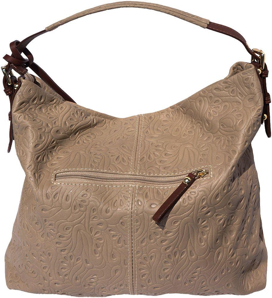 ... Δερματινη Τσαντα Ωμου Debora Firenze Leather 8001s Σκουρο Μπεζ Καφε 7c9c2628b48