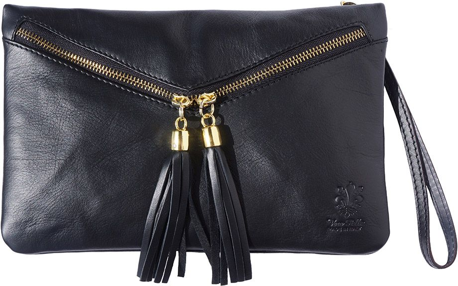 d851ae50be Δερματινο Τσαντακι Clutch Rufina Firenze Leather 6127 Μαύρο