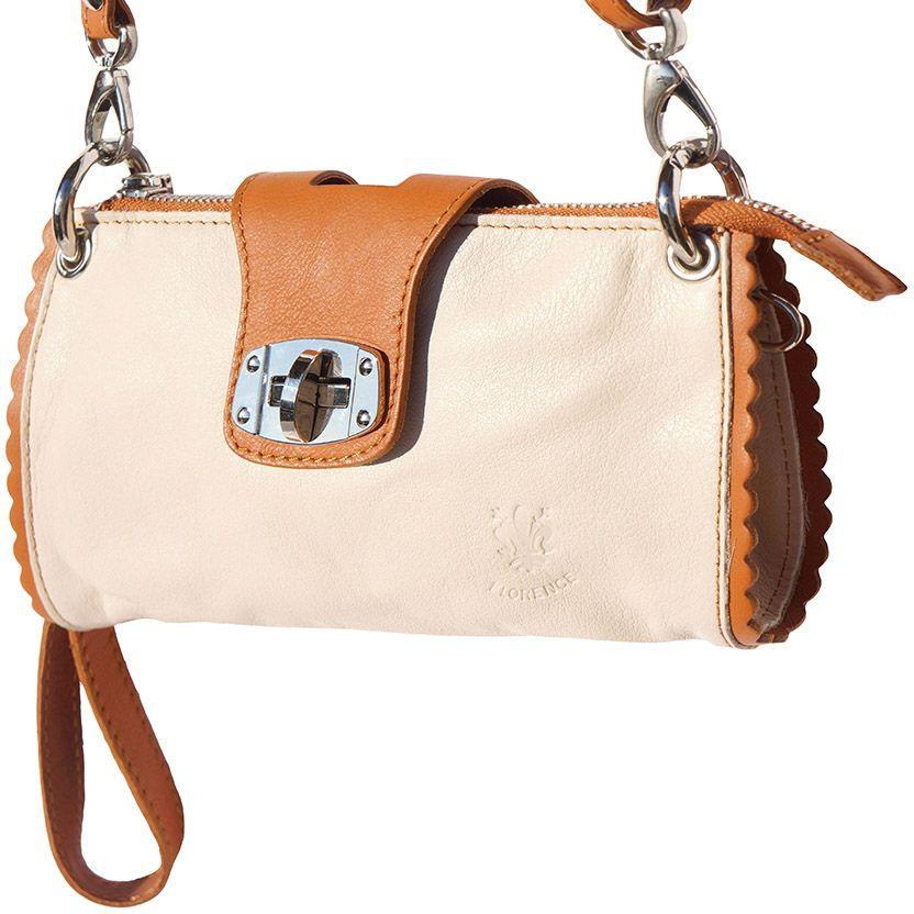 Τσαντακι Ωμου Δερματινο Be Exclusive Firenze Leather 8611 Μπεζ/Μπεζ γυναίκα   φάκελοι clutch bags