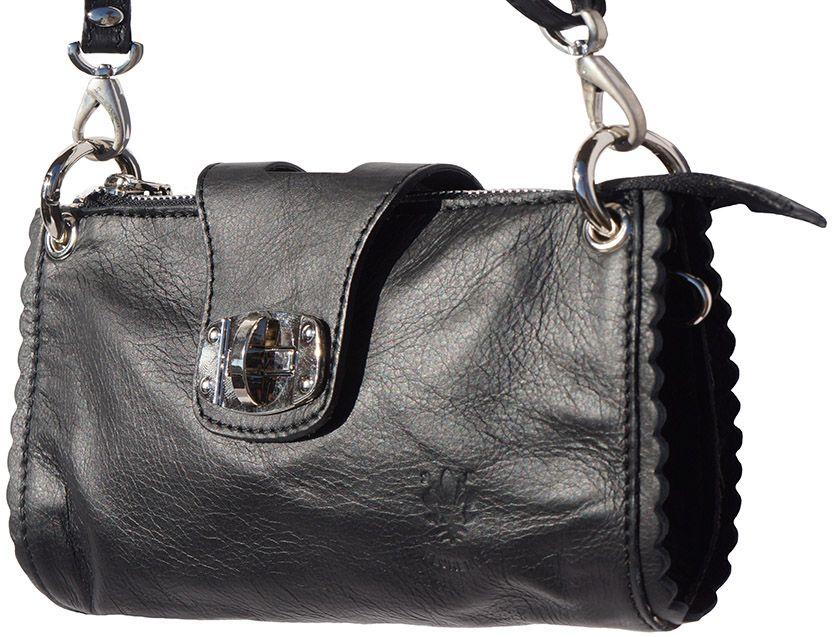 Τσαντακι Ωμου Δερματινο Be Exclusive Firenze Leather 8611 Μαύρο γυναίκα   φάκελοι clutch bags