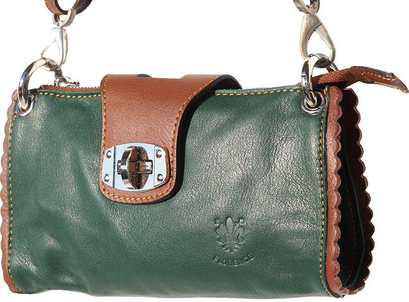 Τσαντακι Ωμου Δερματινο Be Exclusive Firenze Leather 8611 Σκουρο Πρασινο/Καφε γυναίκα   φάκελοι clutch bags