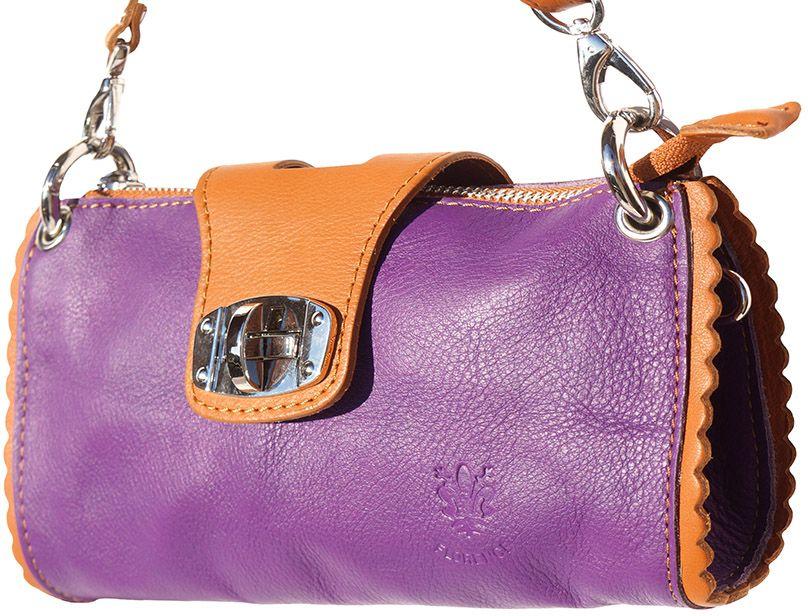 Τσαντακι Ωμου Δερματινο Be Exclusive Firenze Leather 8611 Μωβ/Μπεζ γυναίκα   φάκελοι clutch bags