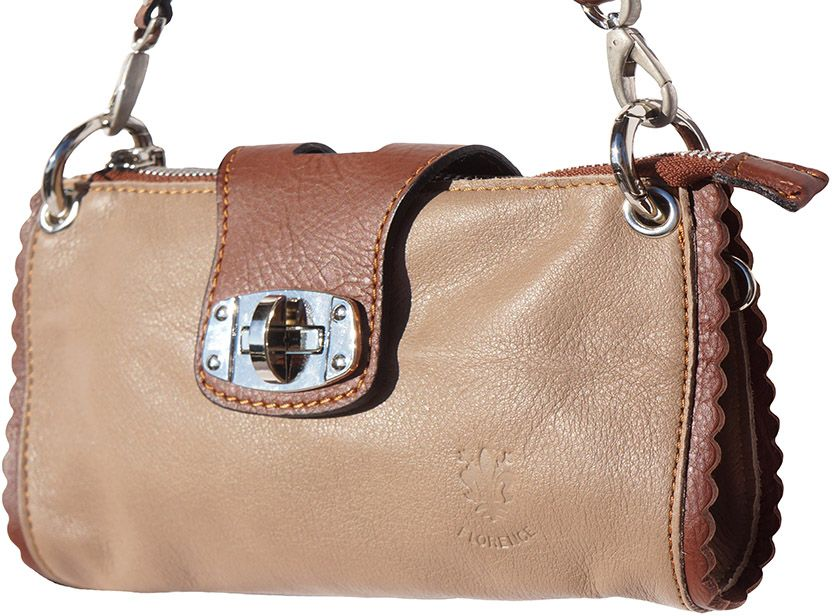 Τσαντακι Ωμου Δερματινο Be Exclusive Firenze Leather 8611 Καφε γυναίκα   φάκελοι clutch bags