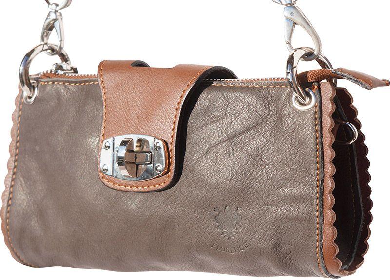 Τσαντακι Ωμου Δερματινο Be Exclusive Firenze Leather 8611 Σκουρο Καφε/Καφε γυναίκα   φάκελοι clutch bags