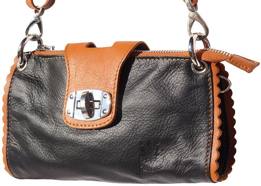 Τσαντακι Ωμου Δερματινο Be Exclusive Firenze Leather 8611 Μαύρο/Μπεζ γυναίκα   φάκελοι clutch bags