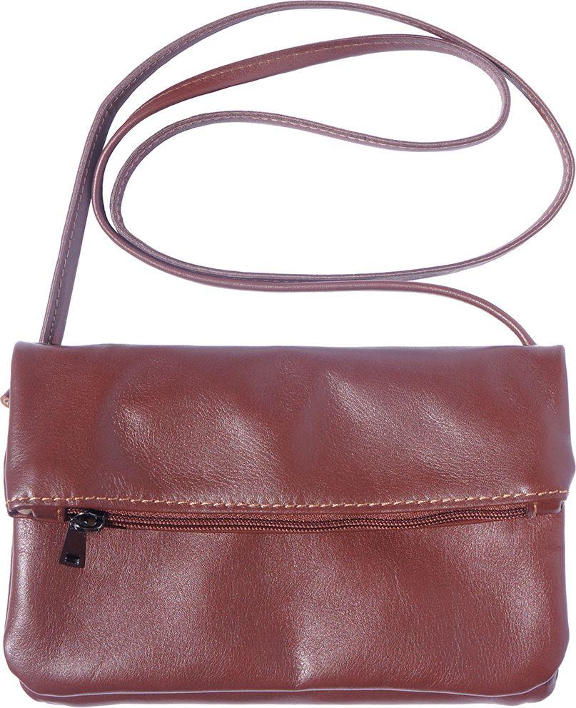 ff083be9b4 Δερματινο Τσαντακι Φακελος Anita Firenze Leather 3601 Καφε