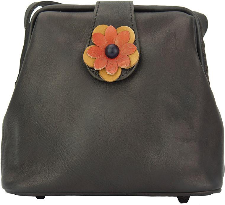 Δερματινο Τσαντακι Ωμου Fiore Firenze Leather 68068 Μαύρο