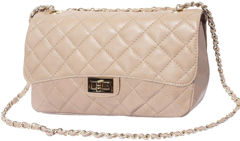 Δερματινο Τσαντακι Ωμου Be Exclusive Firenze Leather 9605 Nude γυναίκα   φάκελοι clutch bags