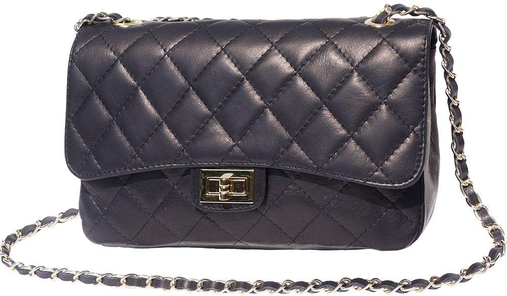 Δερματινο Τσαντακι Ωμου Be Exclusive Firenze Leather 9605 Μαύρο γυναίκα   φάκελοι clutch bags