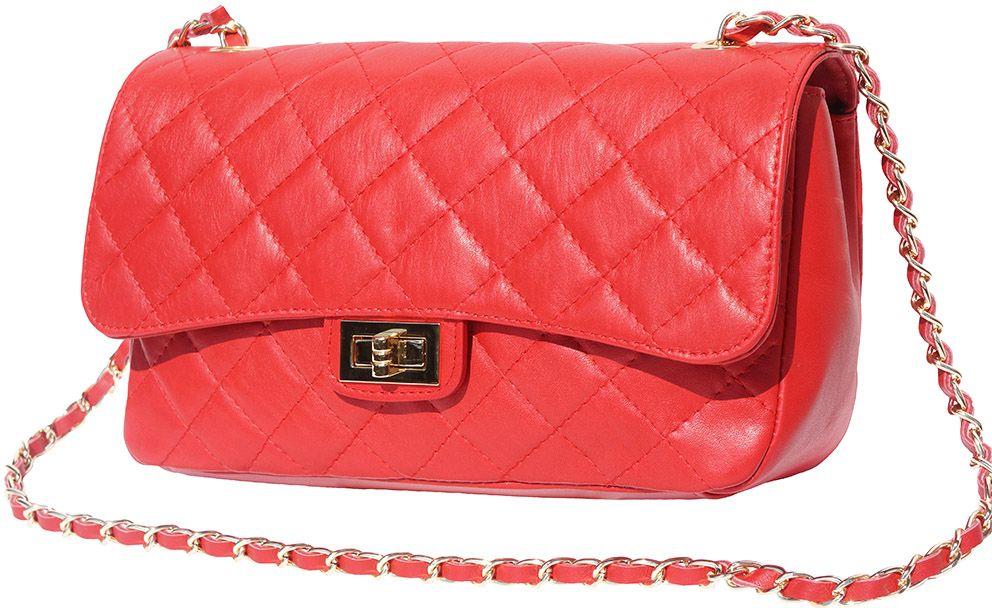 Δερματινο Τσαντακι Ωμου Be Exclusive Firenze Leather 9605 Κόκκινο γυναίκα   φάκελοι clutch bags