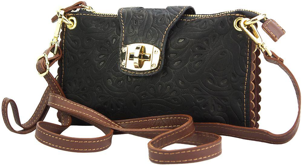 Τσαντακι Clutch Δερματινο Be Exclusive Firenze Leather 8611S Μαύρο/Καφε γυναίκα   φάκελοι clutch bags