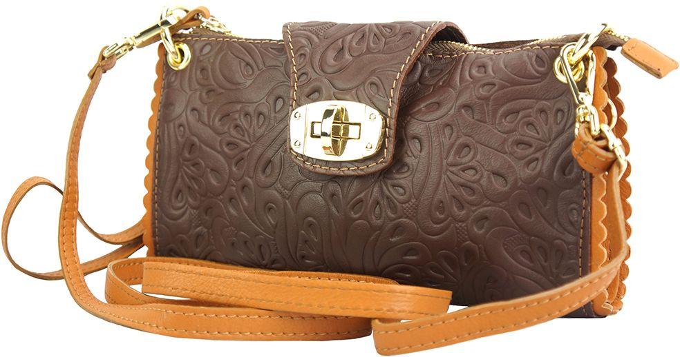 04c21f3bdc Τσαντακι Clutch Δερματινο Be Exclusive Firenze Leather 8611S Καφε Μπεζ