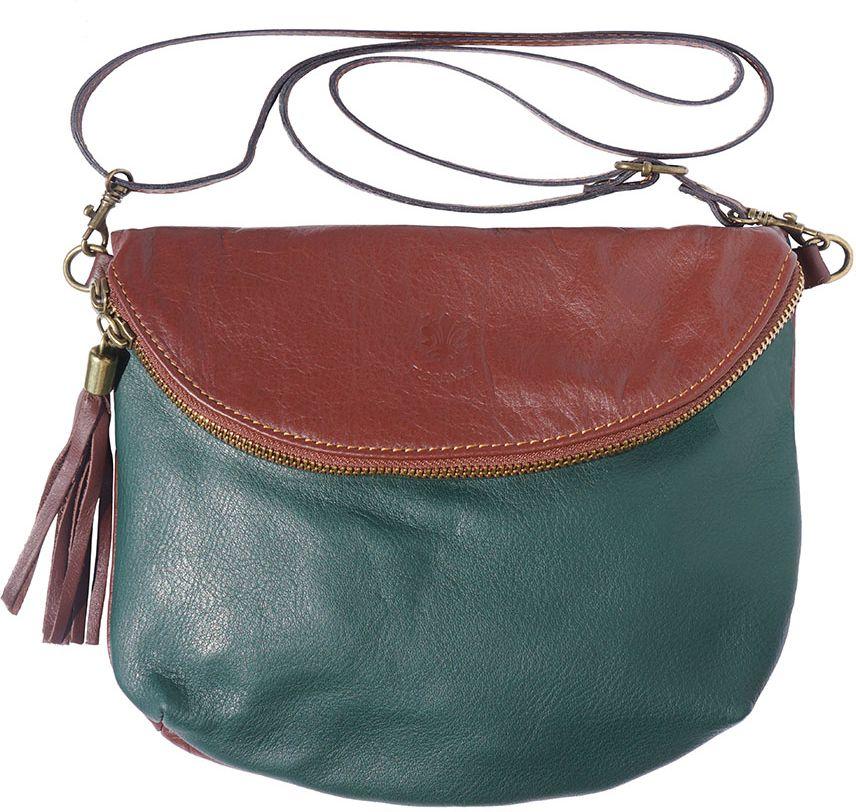 ec17f207a2 Δερματινο Γυναικειο Τσαντακι Rachele Firenze Leather 6120 Σκουρο  Πρασινο Καφε