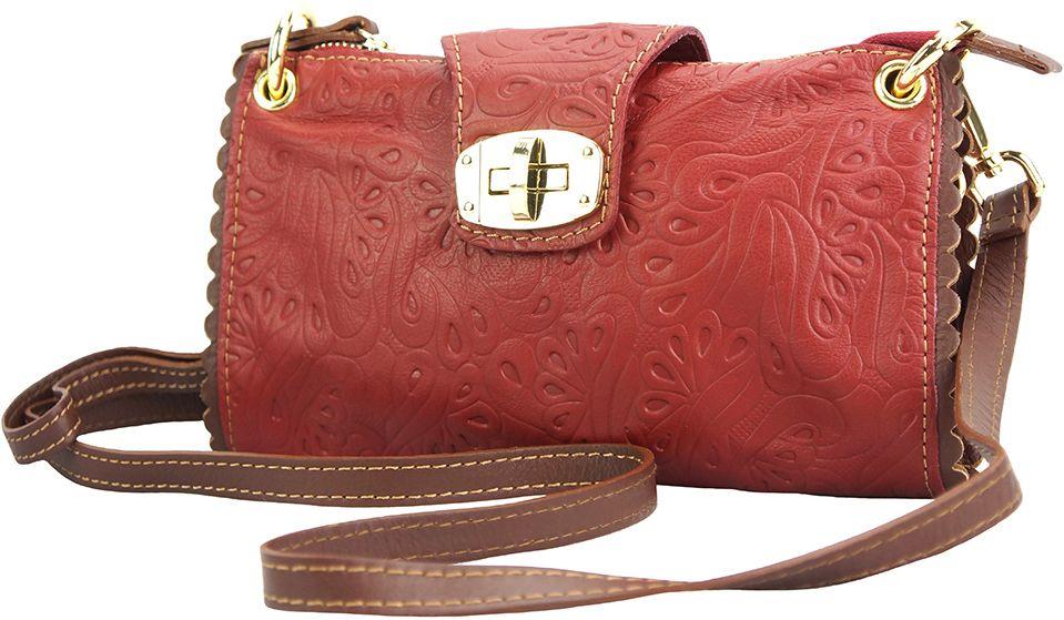 Τσαντακι Clutch Δερματινο Be Exclusive Firenze Leather 8611S Κόκκινο/Καφε γυναίκα   φάκελοι clutch bags