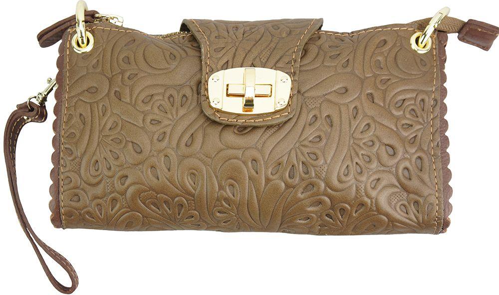 Τσαντακι Clutch Δερματινο Be Exclusive Firenze Leather 8611S Σκουρο /Καφε γυναίκα   φάκελοι clutch bags