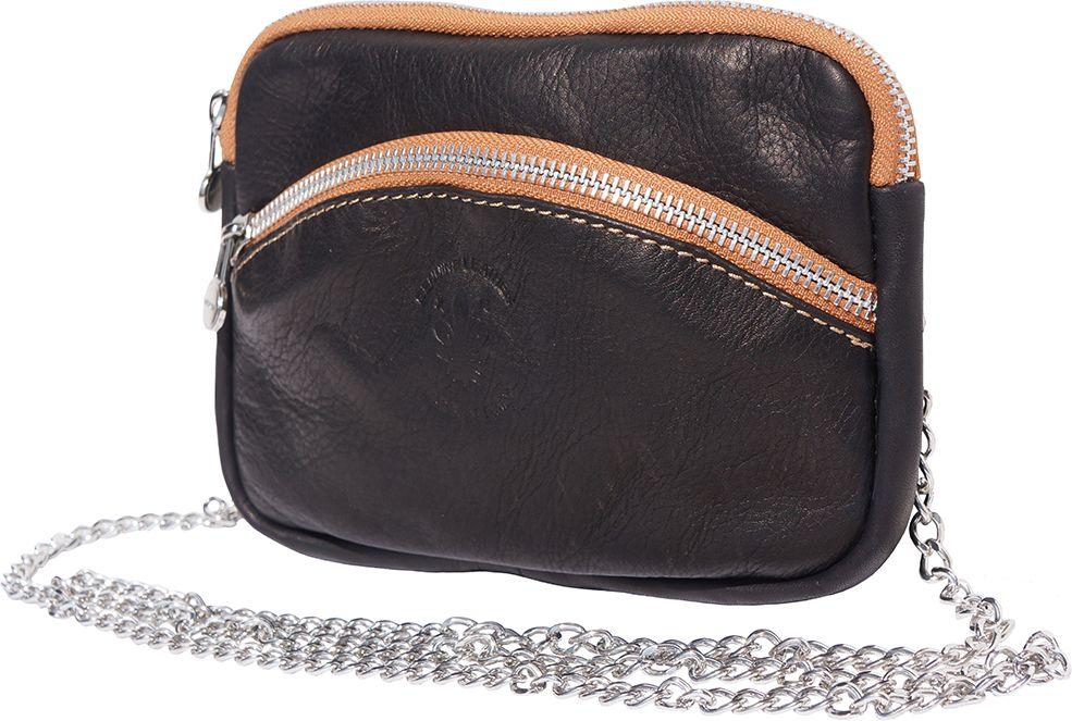 0ef56b9381 Τσαντακι Ωμου Δερματινο Firenze Leather B335 Μαύρο Μπεζ