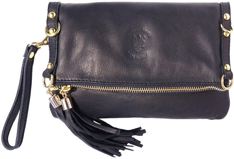 122103d08f Δερμάτινο Τσαντακι Clutch Giorgia Firenze Leather 9606 Μαύρο