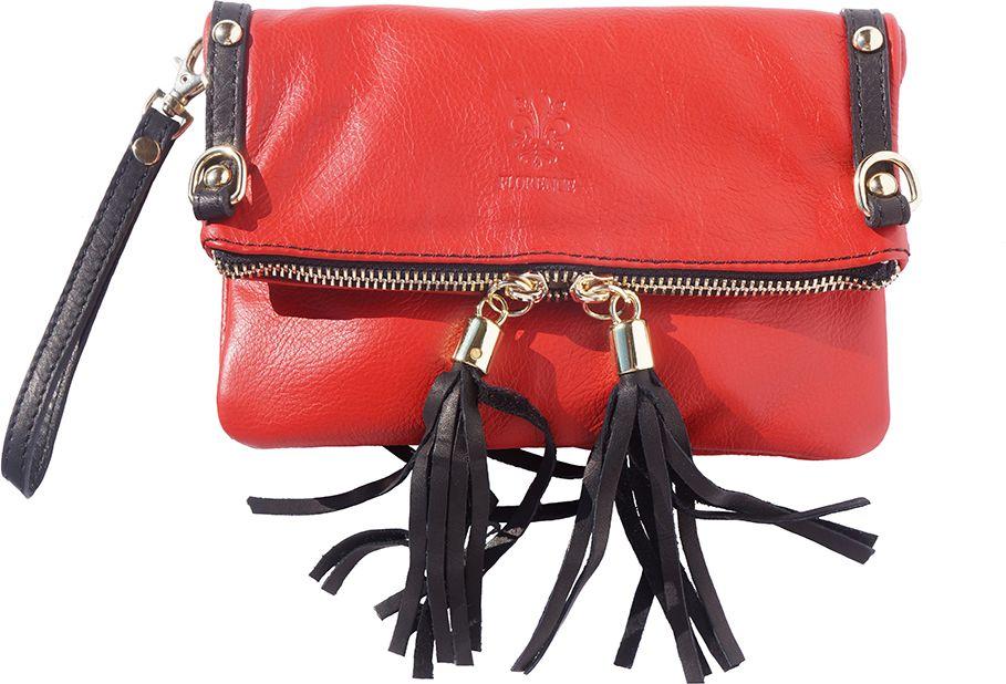 1aa65e5054 Δερμάτινο Τσαντακι Clutch Giorgia Firenze Leather 9606 Κόκκινο Μαύρο ...