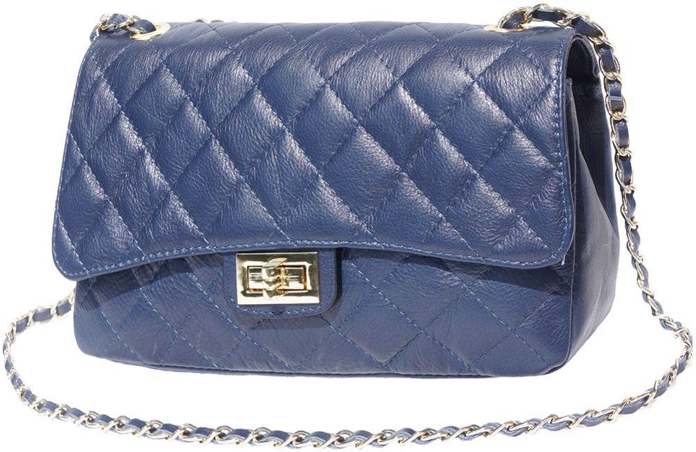 Δερματινο Τσαντακι Ωμου Be Exclusive Firenze Leather 9605 Σκουρο Μπλε γυναίκα   φάκελοι clutch bags