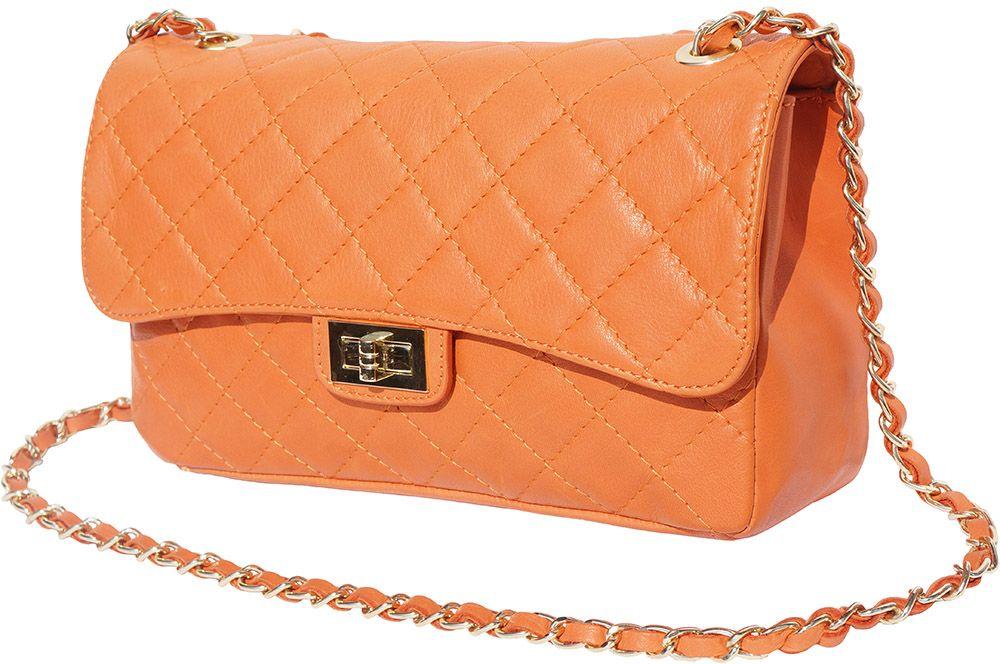 Δερματινο Τσαντακι Ωμου Be Exclusive Firenze Leather 9605 Πορτοκαλι γυναίκα   φάκελοι clutch bags