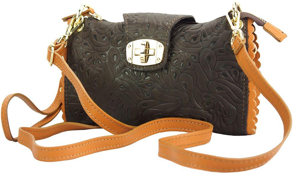 Τσαντακι Clutch Δερματινο Be Exclusive Firenze Leather 8611S Σκουρο Καφε/Μπεζ γυναίκα   φάκελοι clutch bags