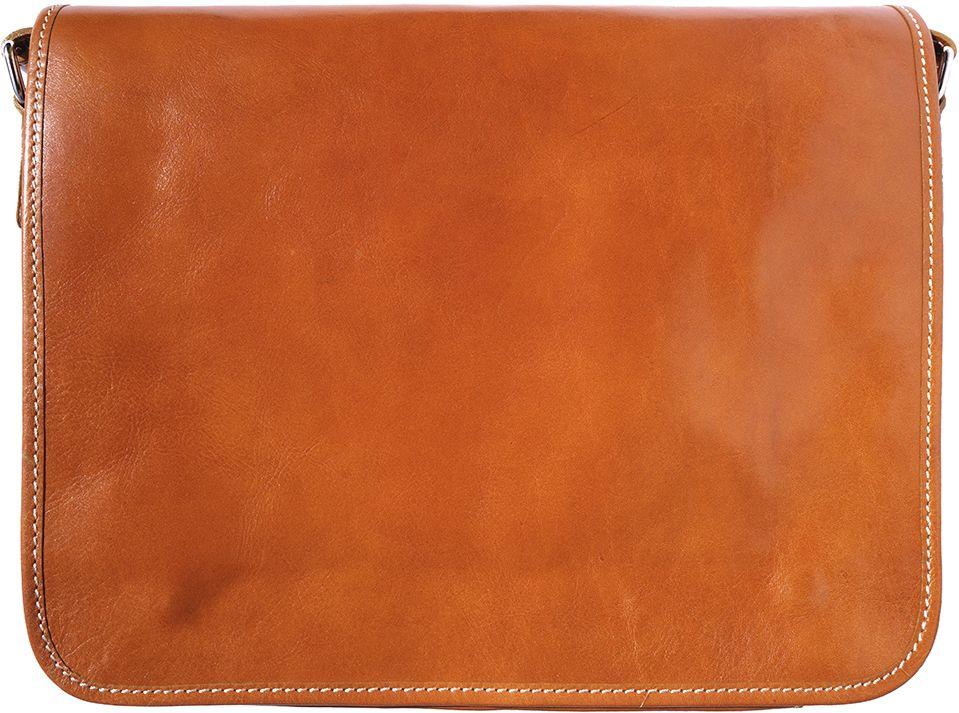 Δερμάτινη Τσάντα Ταχυδρόμου Firenze Leather 6548 Μπεζ ανδρας   χαρτοφύλακες