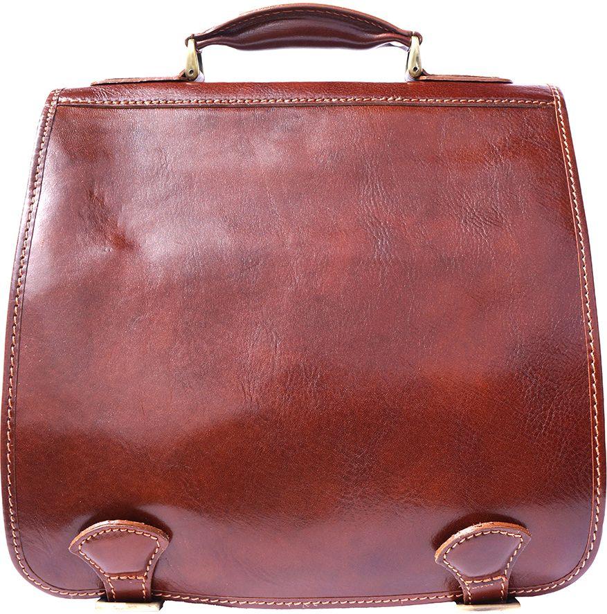 Δερμάτινος Χαρτοφύλακας Mini 2 Θέσεων Firenze Leather 7608 Καφε ανδρας   χαρτοφύλακες