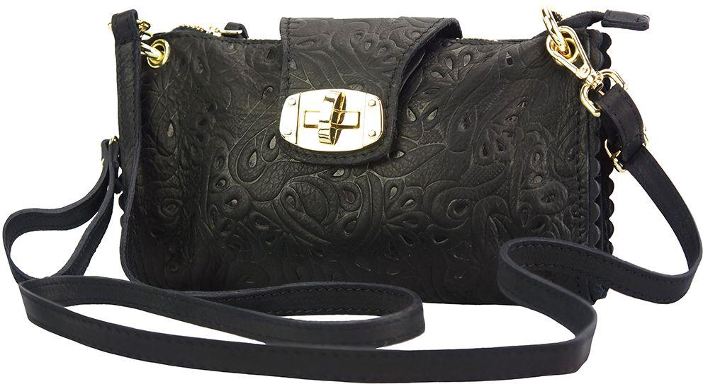 Τσαντακι Clutch Δερματινο Be Exclusive Firenze Leather 8611S Μαύρο γυναίκα   φάκελοι clutch bags