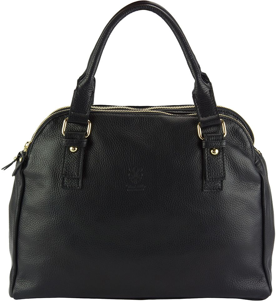 Δερμάτινη Τσάντα Χειρός Pierluigi Firenze Leather 9004 Μαύρο γυναίκα   τσάντες ώμου   χειρός