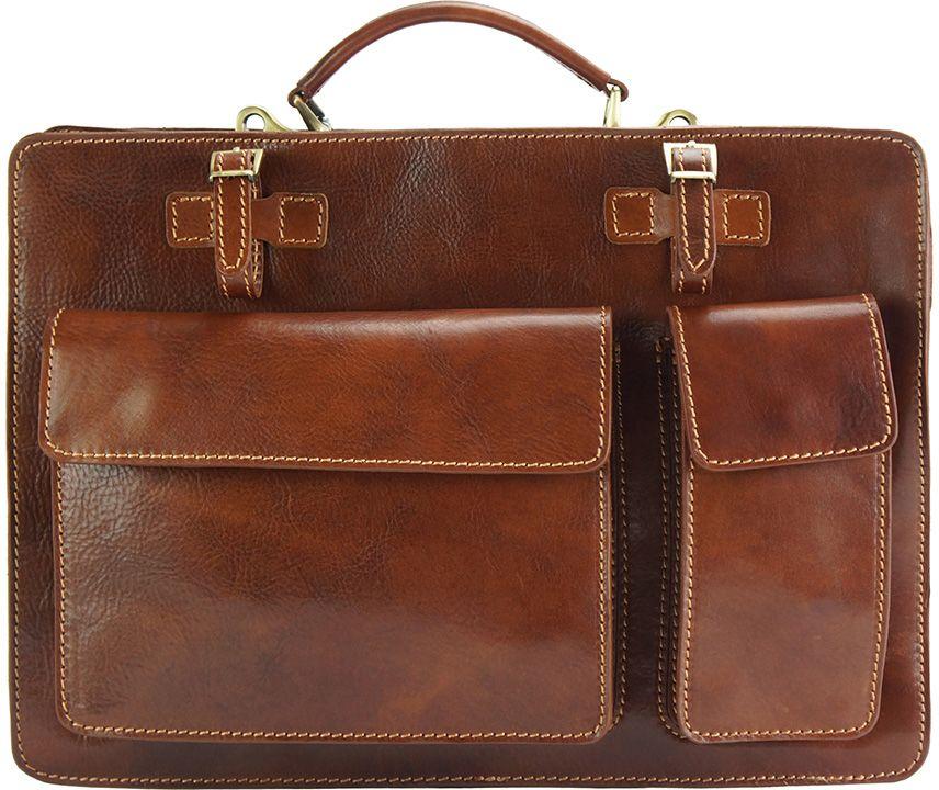 Χαρτοφυλακας Δερματινος Daniele Firenze Leather 7632 Καφε γυναίκα   χαρτοφύλακες