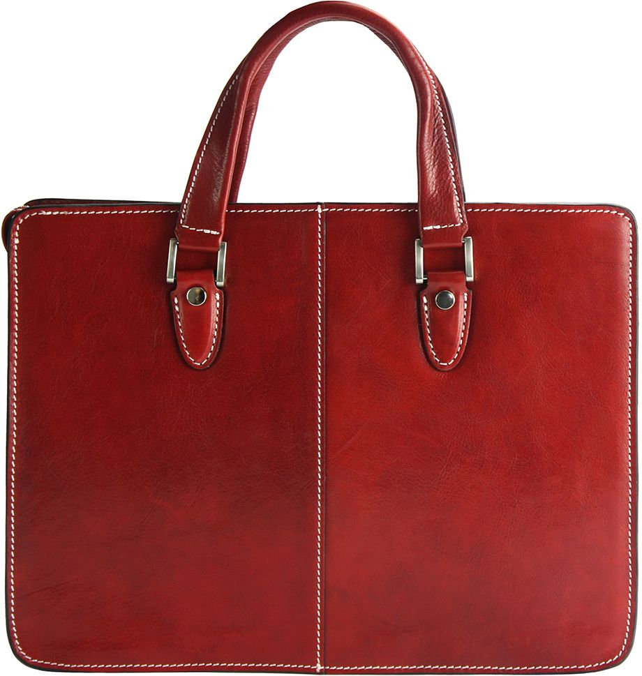 52b0ef1ddb Γυναικειος Χαρτοφύλακας Δερμάτινος Rolando Firenze Leather 7629 Κόκκινο ...