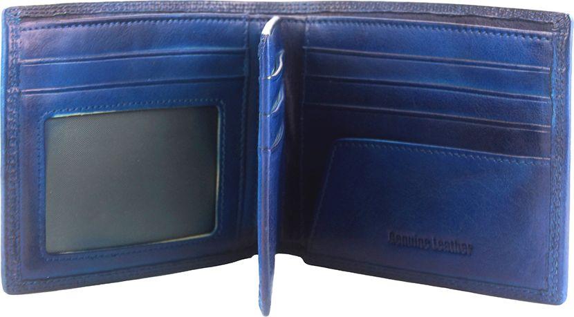Δερμάτινο Πορτοφόλι Multiple Firenze Leather 53826 Σκουρο Μπλε