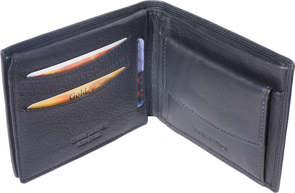 Ανδρικο Δερματινο Πορτοφολι Firenze Leather 1123 Μαύρο