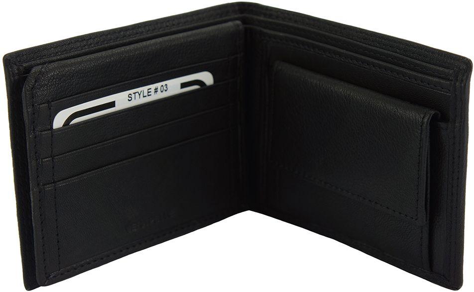 Δερμάτινο Πορτοφόλι Salvatore Firenze Leather PF03 Μαύρο