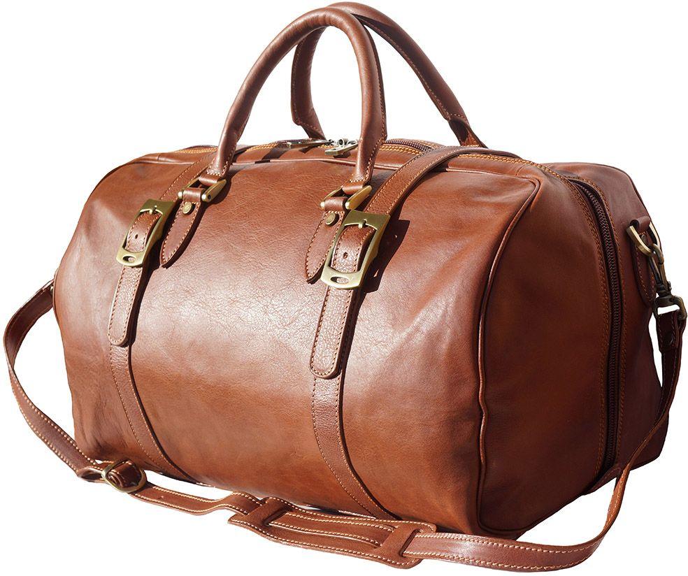 Δερμάτινο Σακ Βουαγιαζ Fortunato Firenze Leather 7503 Μπεζ