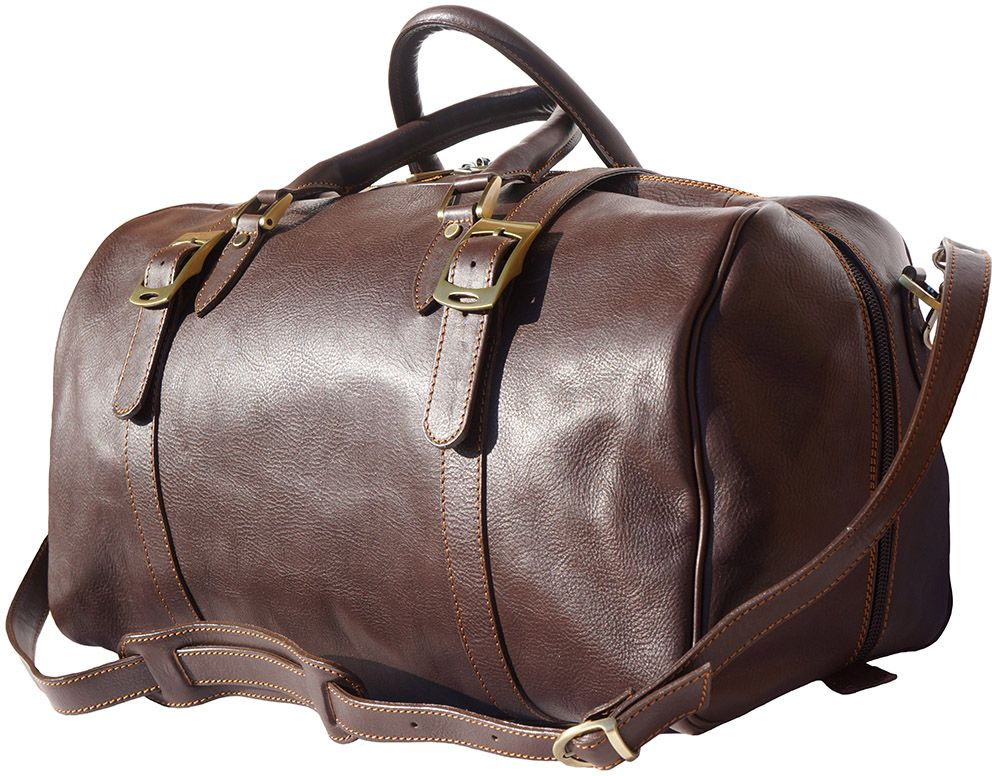 Δερμάτινο Σακ Βουαγιαζ Fortunato Firenze Leather 7503 Σκουρο Καφε